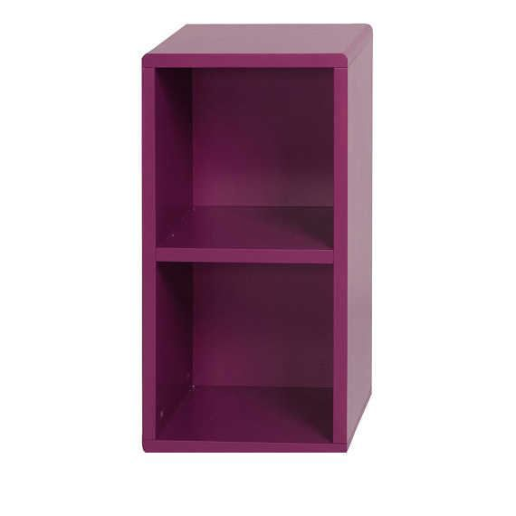 Meuble de rangement violet 2 cubes 36x32x75cm achat vente etag re murale - Jeux de rangement de toute la maison ...