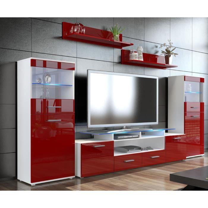 combinaison murale tv vitrine tag re borde achat vente vitrine argentier. Black Bedroom Furniture Sets. Home Design Ideas