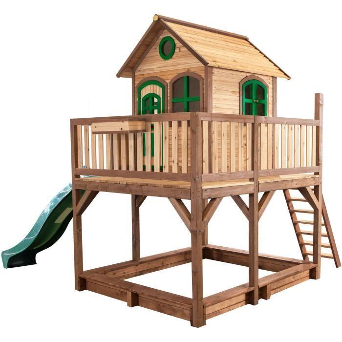 axi maisonnette enfant cabane en bois 2 en 1 liam achat vente maisonnette ext rieure cdiscount. Black Bedroom Furniture Sets. Home Design Ideas