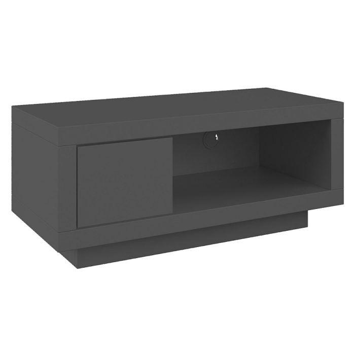 Varic m anthracite tiroir graphite achat vente meuble for Meuble dvd ferme
