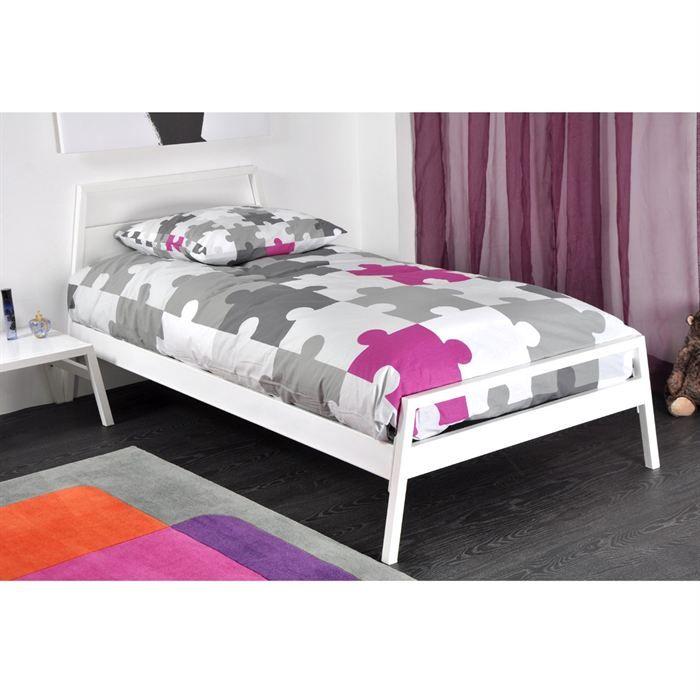 lit blanc laque 90x190 maison design. Black Bedroom Furniture Sets. Home Design Ideas