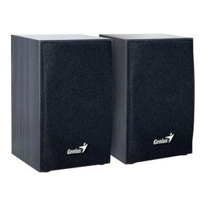 GENIUS Haut parleurs HP SP HF 160 - USB - 4 Watts - Noir - PC / Mac / Smartphone / Tablette / Lecteur MP3 et CD