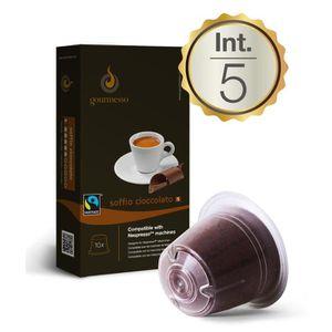CAFÉ - CHICORÉE 10 Soffio Cioccolato Capsules Compatibles Nespress