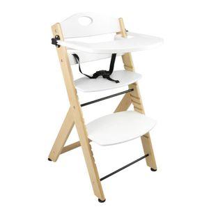 CHAISE Chaise haute en bois blanche
