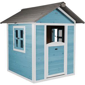 MAISONNETTE EXTÉRIEURE SUNNY Maisonnette Cabane enfant en bois Lodge bleu