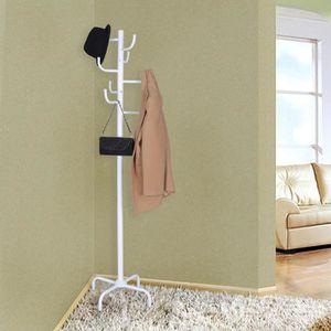 porte manteau une barre achat vente porte manteau une barre pas cher cdiscount. Black Bedroom Furniture Sets. Home Design Ideas