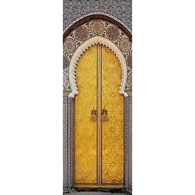 Papier peint pour porte trompe l oeil d co porte orientale for Papier peint trompe l oeil pour porte