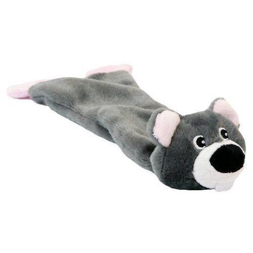animate chien paresseux en peluche qui couine pour chien gris 33 cm achat vente peluche. Black Bedroom Furniture Sets. Home Design Ideas