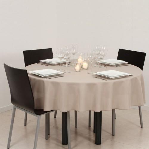 nappe antitache ronde 180cm lin achat vente nappe de. Black Bedroom Furniture Sets. Home Design Ideas