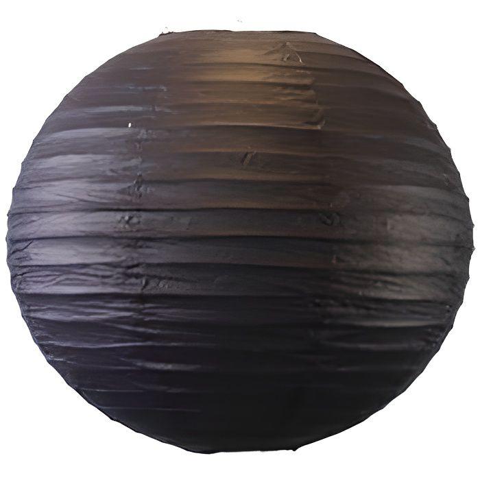 Boule papier 40 cm noir achat vente d co de f te for Boule de papier deco