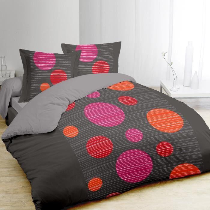 vision parure de couette bulles 100 coton 1 housse de. Black Bedroom Furniture Sets. Home Design Ideas