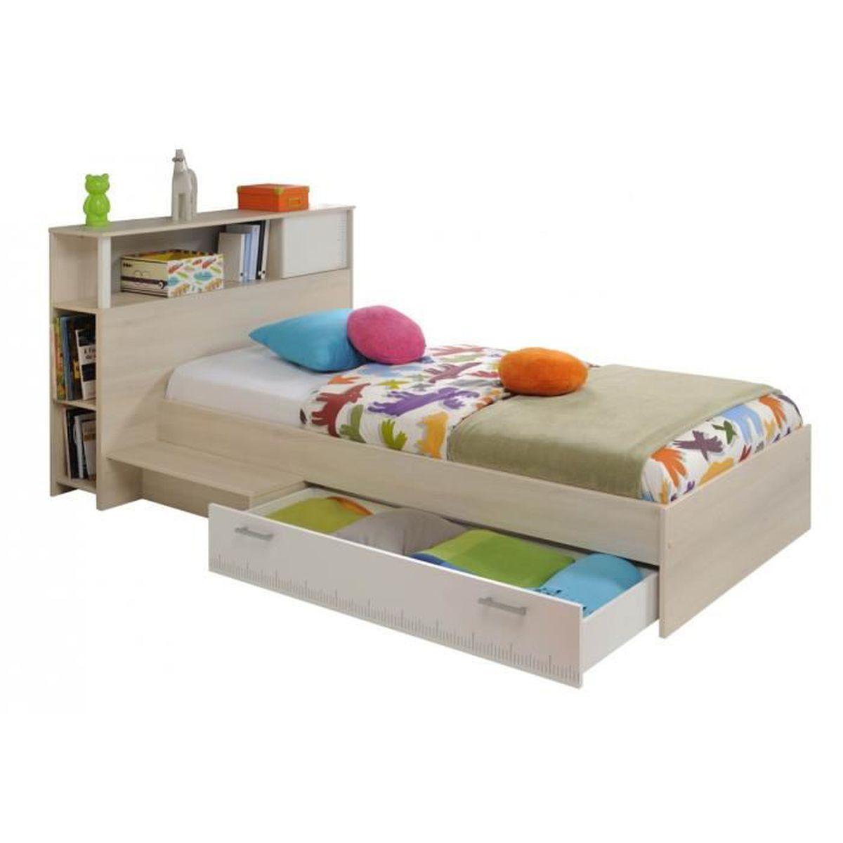 lit 90 x 190 cm avec rangement achat vente lit 90 x 190 cm avec rangement pas cher les. Black Bedroom Furniture Sets. Home Design Ideas