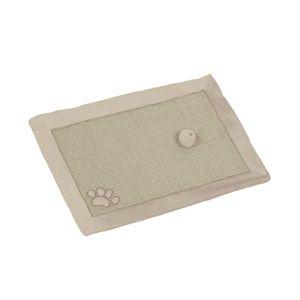 NOBBY Tapis grattoir sisal beige/blanc pour chat 58 x 38cm