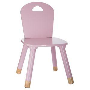 chaise enfant en bois rose achat vente chaise enfant. Black Bedroom Furniture Sets. Home Design Ideas