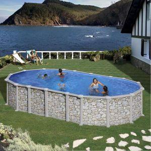 Piscine hors sol 7m acier achat vente piscine hors sol for Piscine aspect bois pas cher