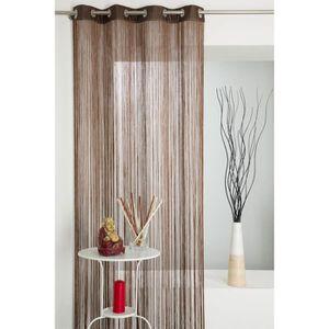 rideau fil a oeillet achat vente rideau fil a oeillet pas cher soldes cdiscount. Black Bedroom Furniture Sets. Home Design Ideas