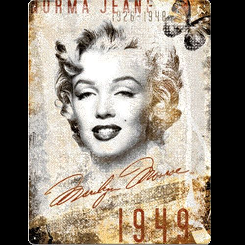 petite plaque m tal marilyn monroe norma jeane achat. Black Bedroom Furniture Sets. Home Design Ideas