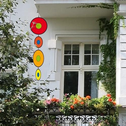 D coration fen tre jardin balcon moulin vent achat - Deco jardin exterieur pas cher ...