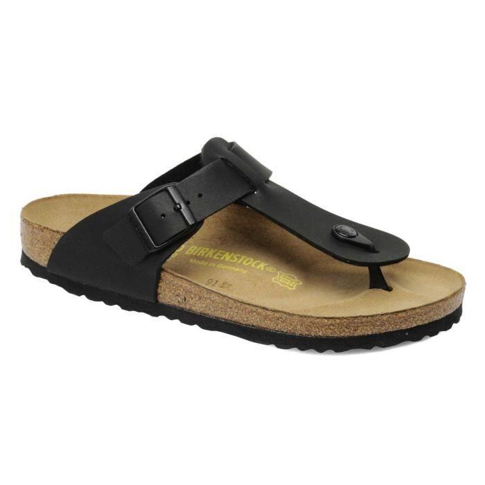 sandales tongs medina birkenstock homme birko flor black pointure 40 achat vente sandale. Black Bedroom Furniture Sets. Home Design Ideas