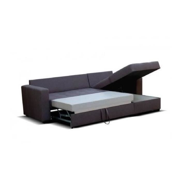 Canap tissu l o convertible noir r versible achat vente canap sofa - C discount canape d angle ...