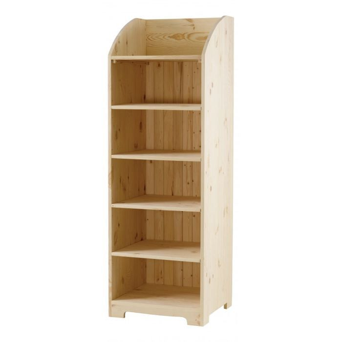 Large biblioth que pin massif brut 6 tag res m achat vente biblioth que - Bibliotheque en pin brut ...