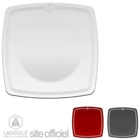 Assiette carr e plate blanc ivoire 25x25cm l achat vente assiette service assiette - Blanc comme l ivoire ...