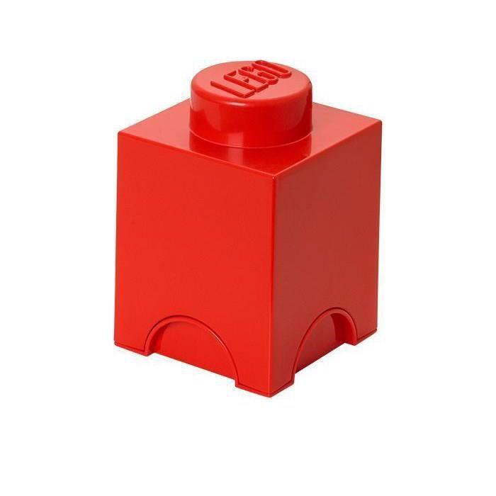 Brique de rangement lego 1 plot rouge achat vente boite de rangement pl - Brique rangement lego ...