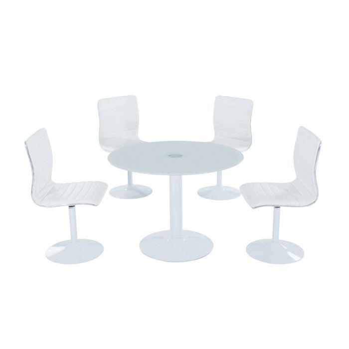 pablo table ronde laqu e blanc achat vente table manger pablo table ronde laqu e. Black Bedroom Furniture Sets. Home Design Ideas