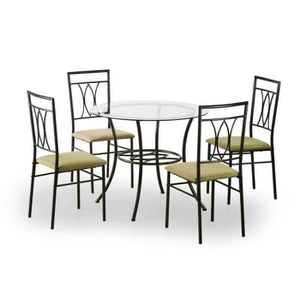 table ronde 4 chaises achat vente table ronde 4 chaises pas cher cdiscount. Black Bedroom Furniture Sets. Home Design Ideas