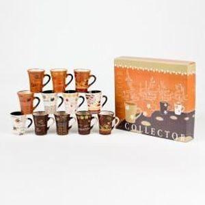 SERVICE À THÉ - CAFÉ Coffret 12 tasses à café collector 10cl