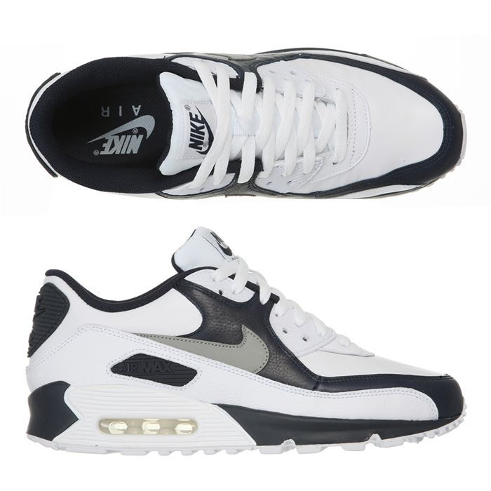 low priced f14f6 35c6b NIKE Baskets Air Max 90 Premium Homme homme Blanc, ...