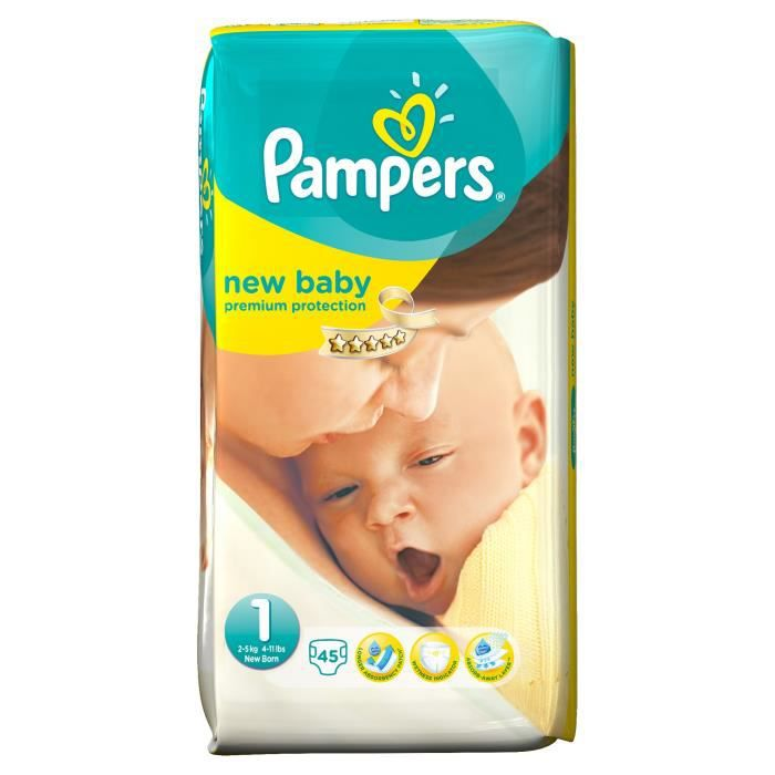 Couches pampers - Couche pampers new baby taille pas cher ...