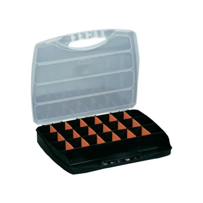 malette de rangement plastique 23 compartiments achat vente valisette mallette plastique. Black Bedroom Furniture Sets. Home Design Ideas