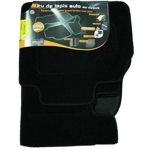 3 tapis auto pour renault sc nic 2 noirs avec f achat vente tapis de sol 3 tapis auto pour. Black Bedroom Furniture Sets. Home Design Ideas