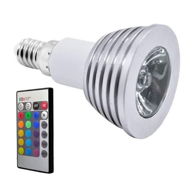 spotlight ampoule led lampe t l commande 16 couleurs 85v 265v achat vente spotlight ampoule. Black Bedroom Furniture Sets. Home Design Ideas