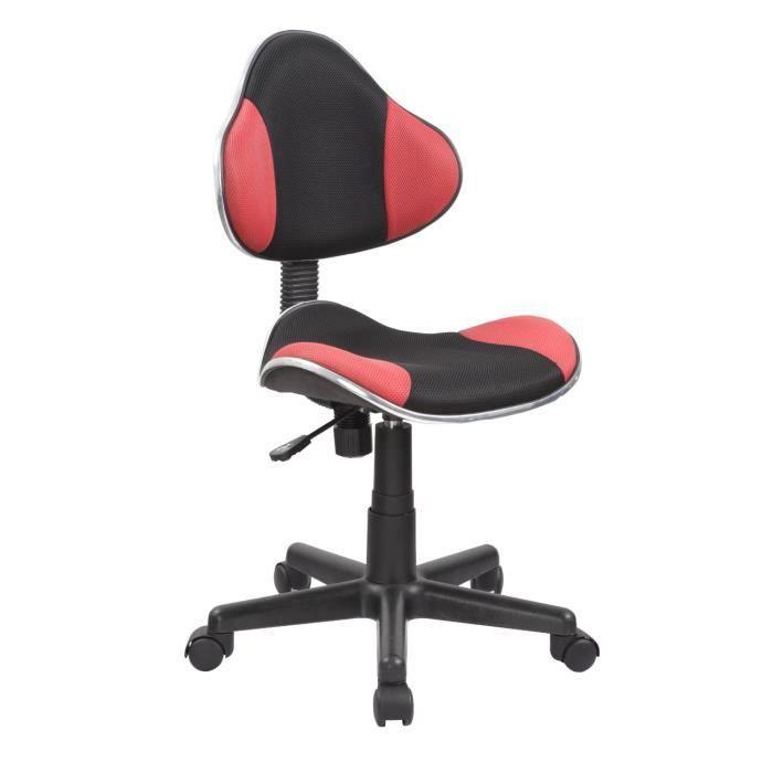 Chaise de bureau ergonomique hauteur r glable rouge for Roulettes pour chaise de bureau