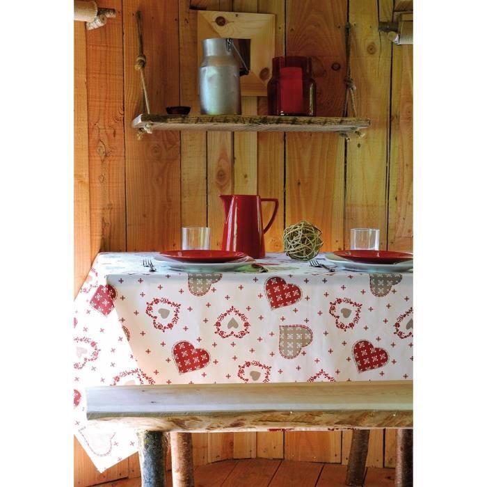 nappe enduite rectangulaire 155 x 250 cm coton gli re cru achat vente nappe de table. Black Bedroom Furniture Sets. Home Design Ideas
