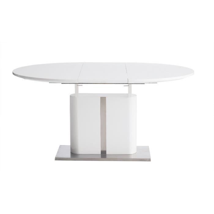 table manger design blanc avec rallonge achat vente. Black Bedroom Furniture Sets. Home Design Ideas