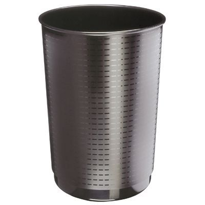 corbeille papier plastique 40l rond noir 133 achat vente poubelle corbeille corbeilles. Black Bedroom Furniture Sets. Home Design Ideas