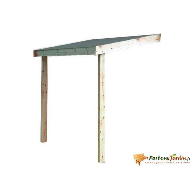 Appentis en bois pour abri de jardin en panneaux achat vente plaque bardeau appentis en for Abri de jardin en bois destockage