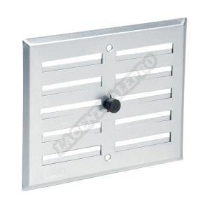 grille d 39 a ration visser fermeture alu gris 1l achat vente vmc accessoires vmc grille. Black Bedroom Furniture Sets. Home Design Ideas