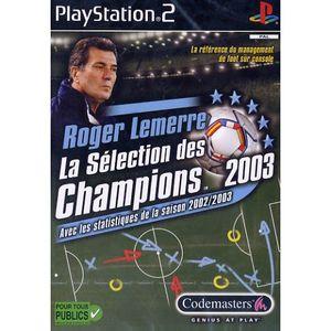 JEU PS2 ROGER LEMERRE