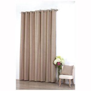 rideau coton couleur lin achat vente rideau coton. Black Bedroom Furniture Sets. Home Design Ideas