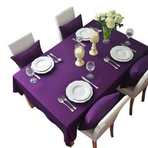 Nappe rectangulaire violet achat vente nappe for Nappe de table carre