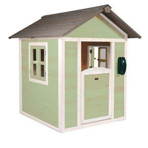 MAISONNETTE EXTÉRIEURE SUNNY Maisonnette Cabane enfant en bois Lodge vert