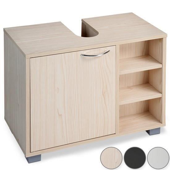 meuble sous lavabo grand espace de rangement 3 coloris h tre achat vente meuble sous vier. Black Bedroom Furniture Sets. Home Design Ideas