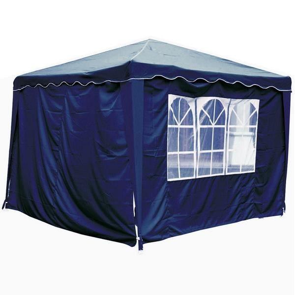 rideaux pour tonnelle 3 x 3 m bleue lot de 2 murs achat vente tonnelle barnum rideaux avec. Black Bedroom Furniture Sets. Home Design Ideas