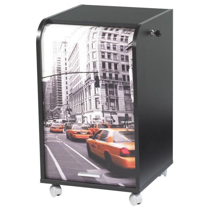 Caisson roulettes 41 4 cm new york achat vente for Meuble bureau new york