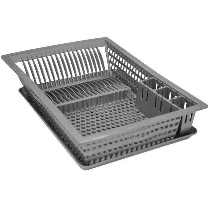 egouttoir vaisselle plateau 48x35 5 cm gris achat vente egouttoir couverts egouttoir. Black Bedroom Furniture Sets. Home Design Ideas