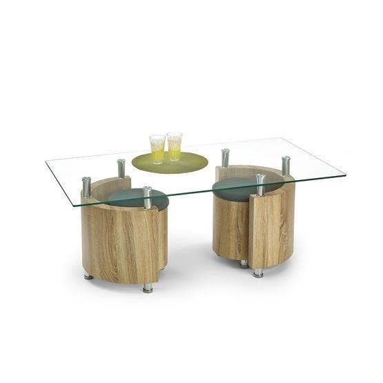 Table basse design dipi bois clair achat vente table for Table basse bois clair